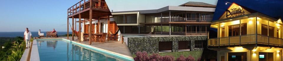 vue maisons en republique dominicaine