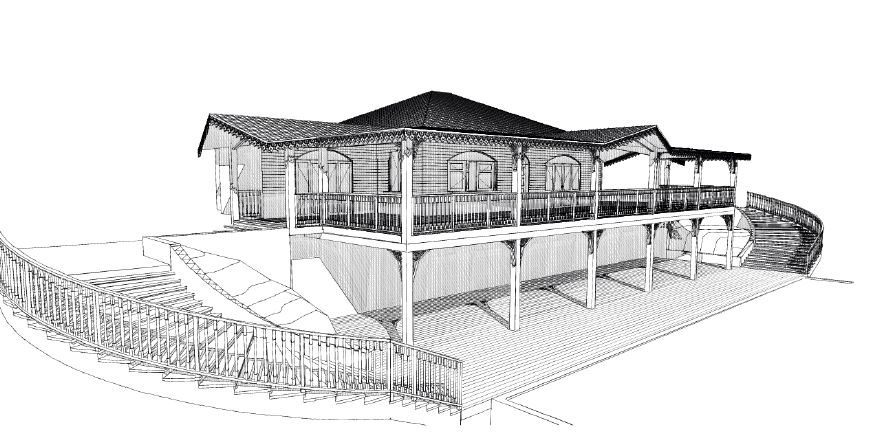plan maison coloniale