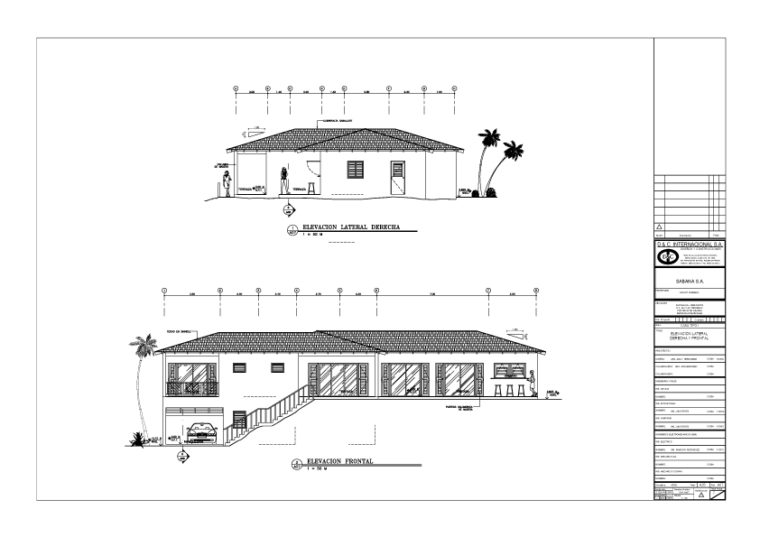 Projet immobilier sabana las casas de doume for Plan maison exterieur